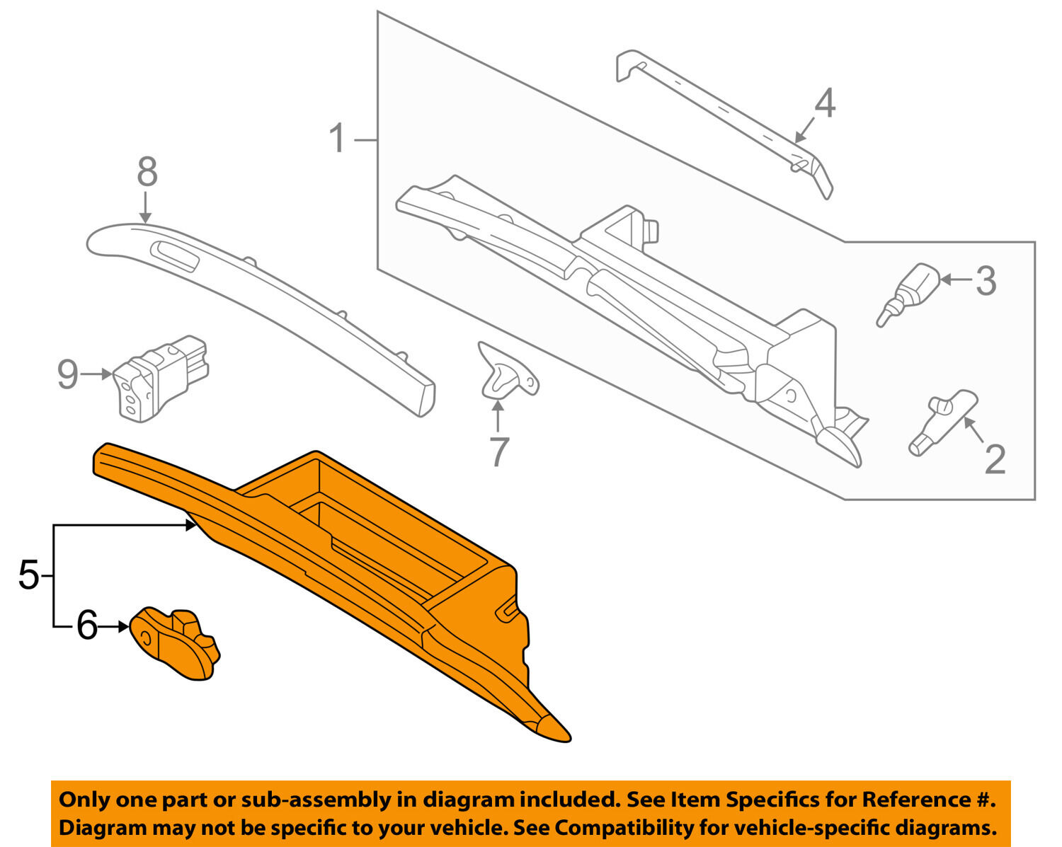 Infiniti Nissan Oem 05 06 Q45 Dash Glove Compartment Box Door Engine Diagram 1 Of 2only 0 Available