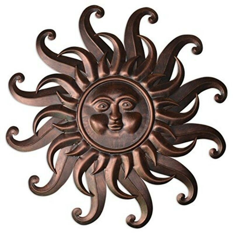 Outdoor Metal Sun Wall Art Hanging Decor Garden Plaque 1 Of 12only 2 Available See More