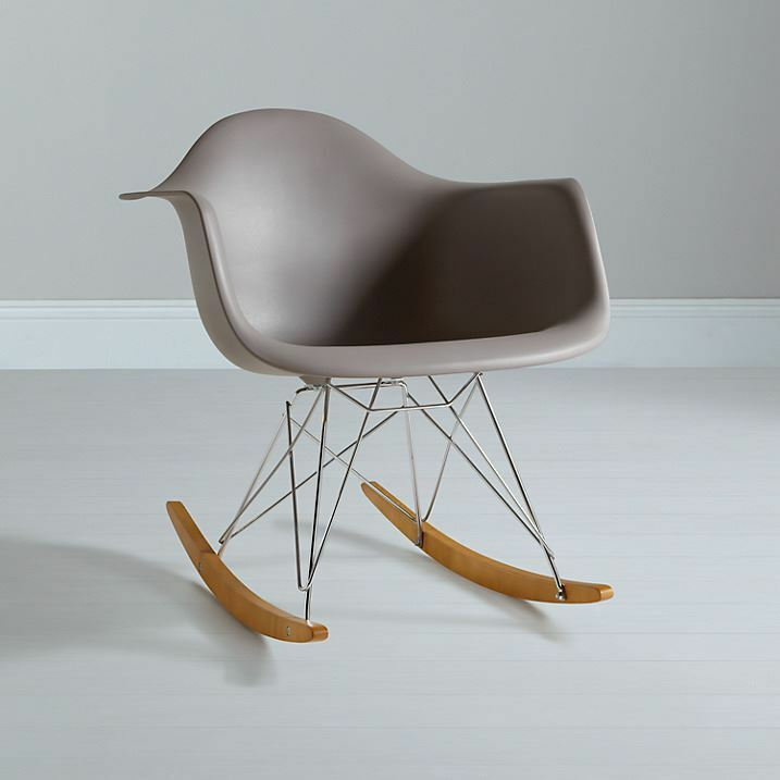 charles eames inspired rar plastic rocking chair for home. Black Bedroom Furniture Sets. Home Design Ideas