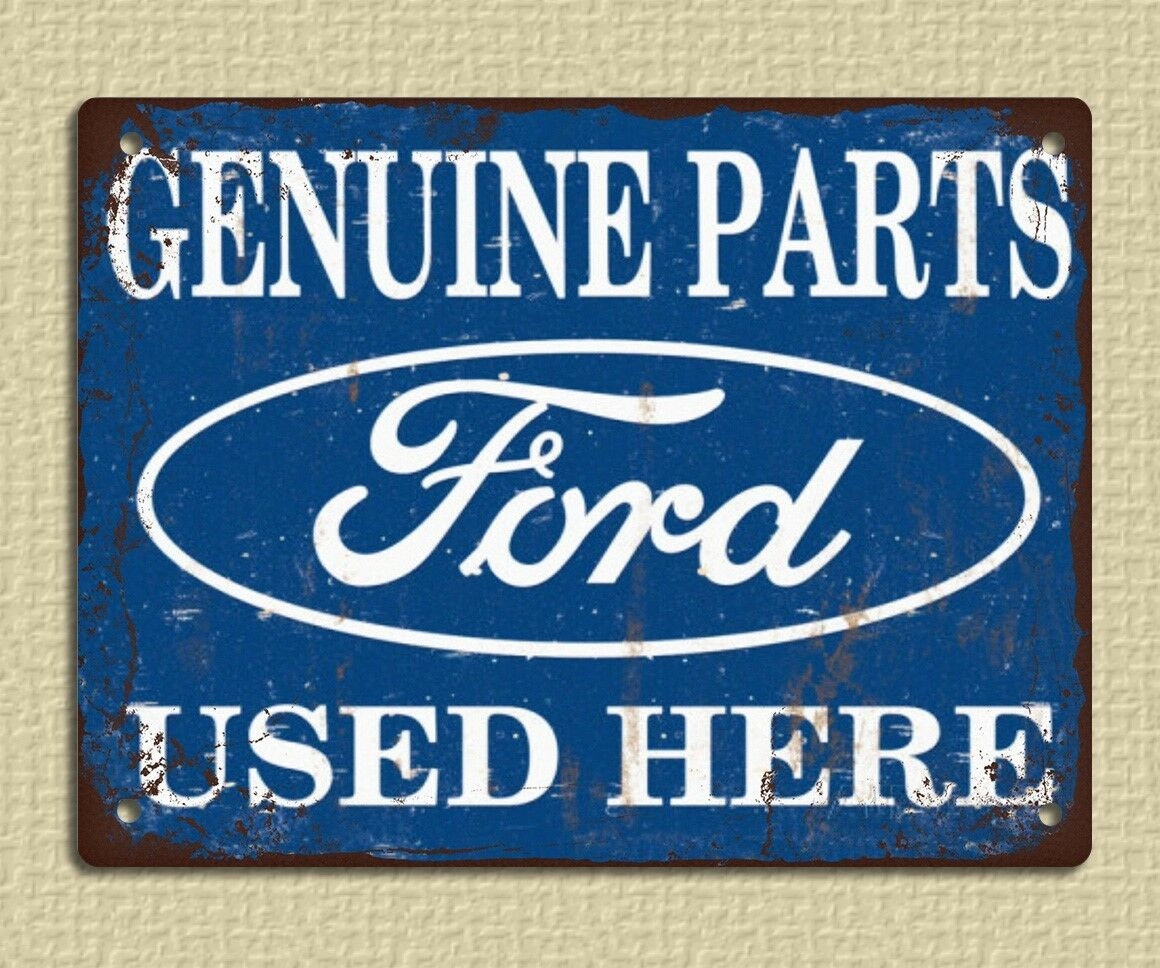 Metal sign plaque vintage retro style ford parts advert for Plaque w garage assurance