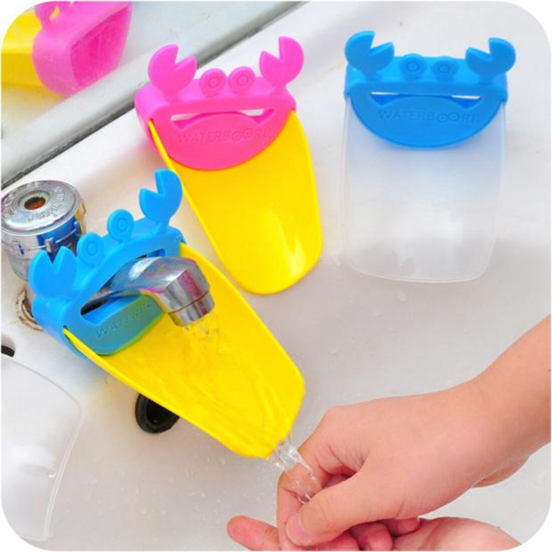 Home Bathroom Sink Water Hand Washing Faucet Tap Extender Colorful ...