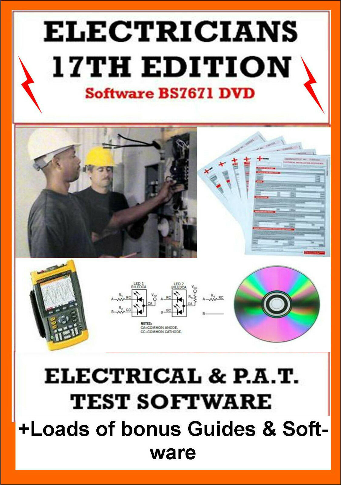 Electrical Pat Testing Certificates Software 17th Edition Eicr 3rd Iee Wiring Regulations Free Download Amendment 1 Of 1free Shipping