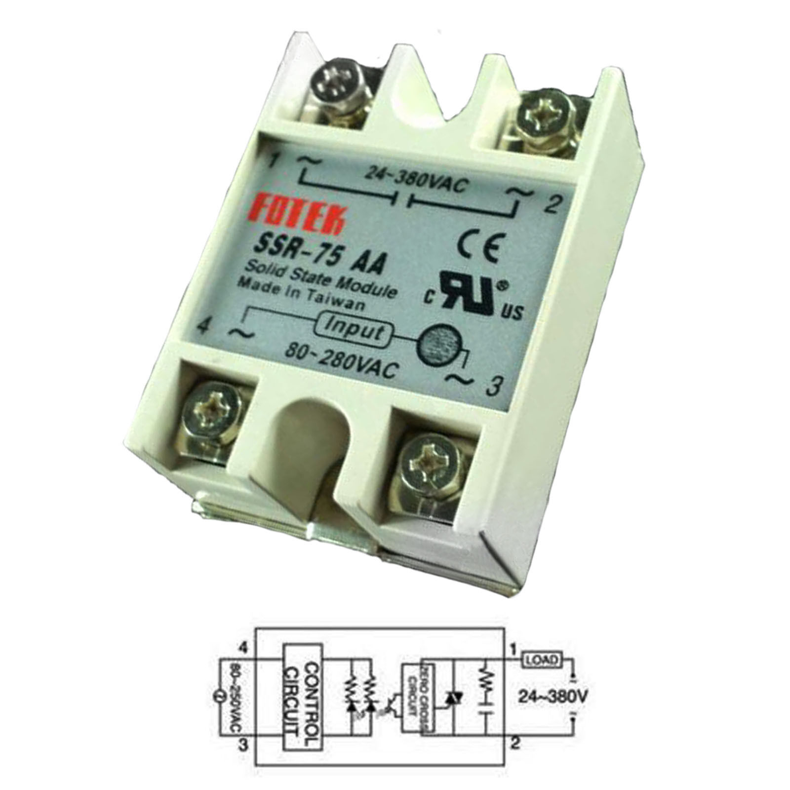 Output 24v 380vac Ssr 75aa 75a Ac Fotek Solid State Relay For Taiwan 1 Of 5only 5 Available See More