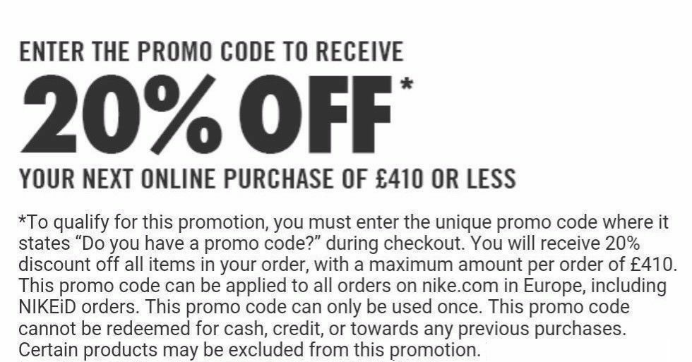 Special Email Offers: Subscribe for their email newsletter to get special coupons such as a $20 off Nike promo code and free shipping offers. Students Special Discounts: 10% off .