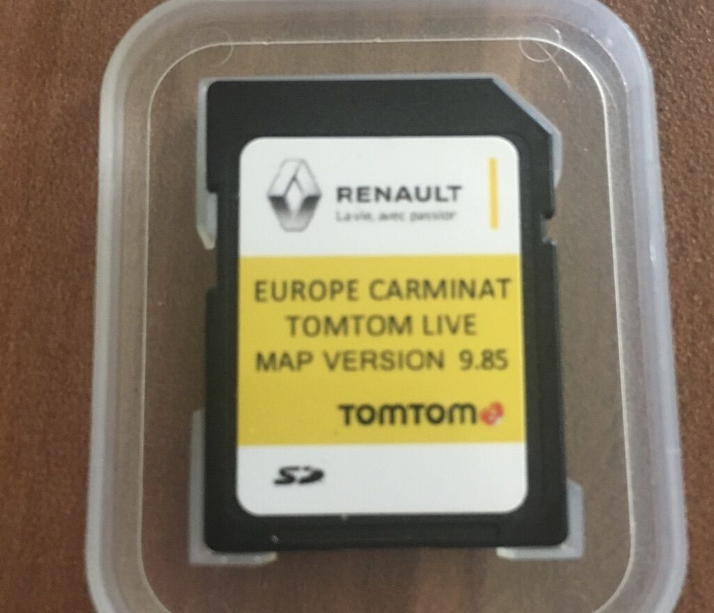 renault carminat tomtom live sd card navigation map 2017 2018 satnav picclick uk. Black Bedroom Furniture Sets. Home Design Ideas