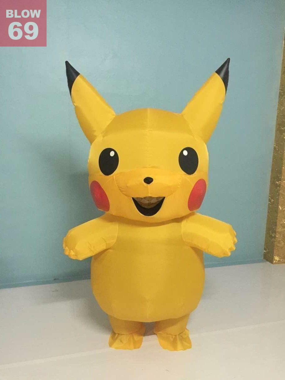 1 of 5 See More & KIDS INFLATABLE PIKACHU Costume Pokemon go Cosplay Costume Outfit ...