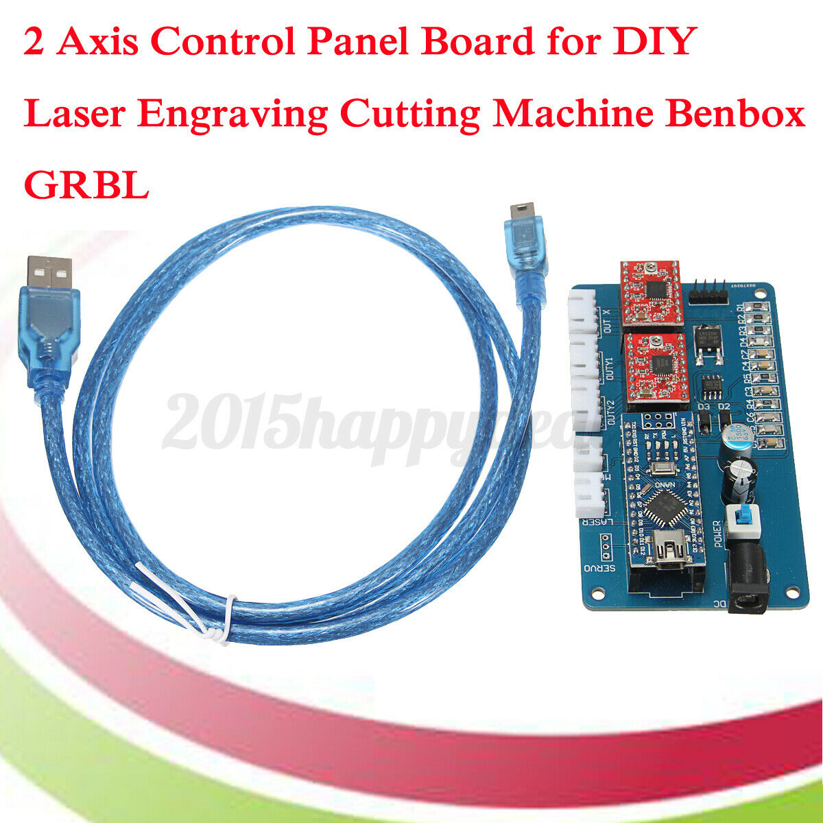 2 AXIS STEPPER Motor Control Board Driver For DIY Laser Engraver ...