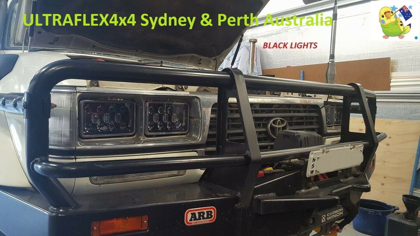 Toyota 80 61 Truck 2 Pairs 4 X 6 60w Legal Cree Led Drl High Power And Fog Lights With Wiring Switch Aygo 1 Of 12