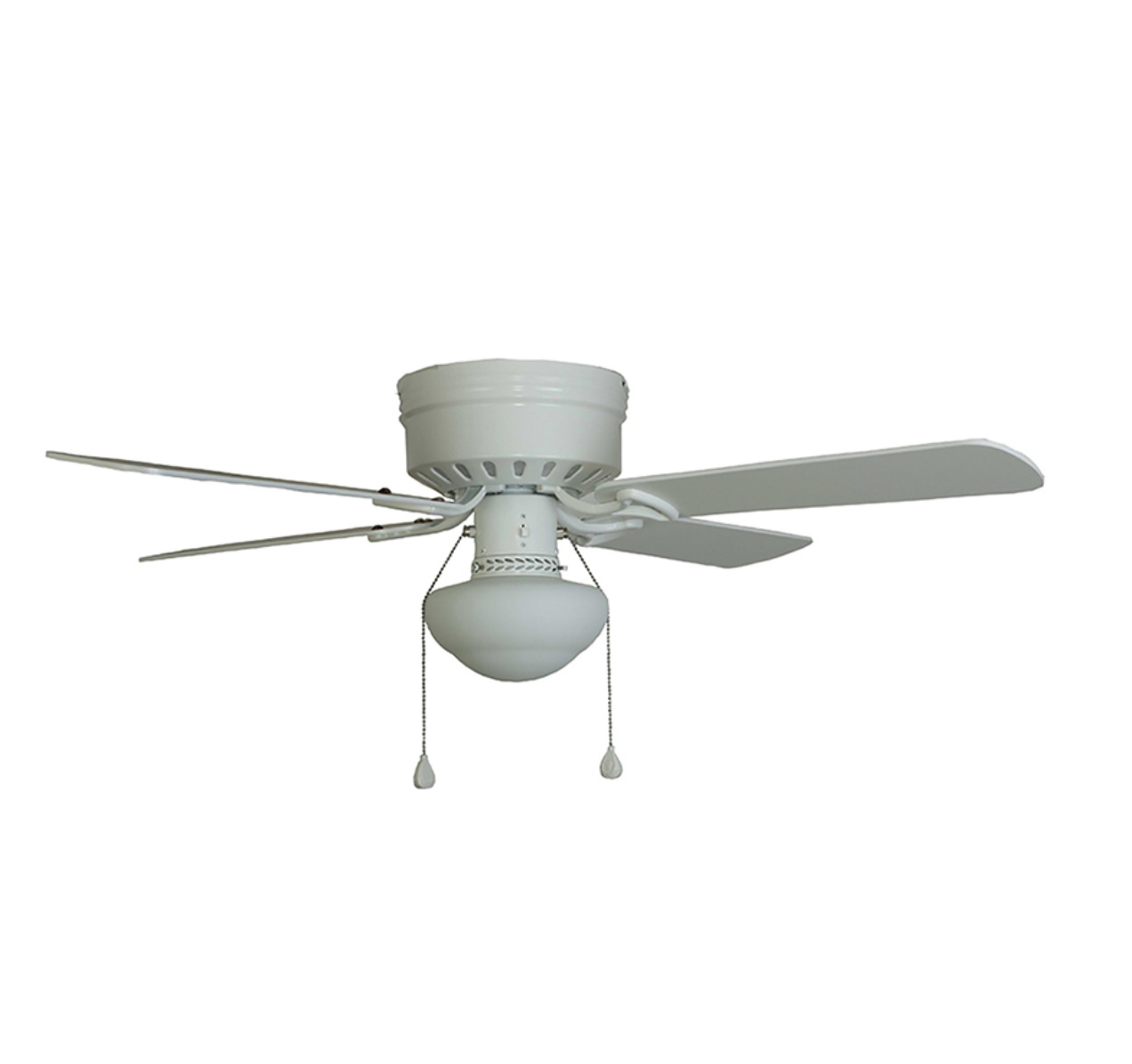 Led Flushmount Ceiling Fan All White Garage Indoor 42 Inch Small Master Bedroom 1 Of 12only Available