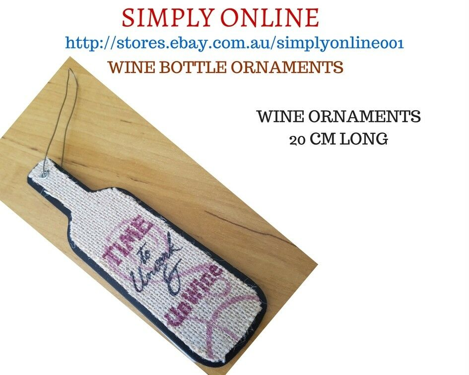 Wine Bottle Ornament - 20 CM Long - Best for Party Decoration - Holiday - Gift