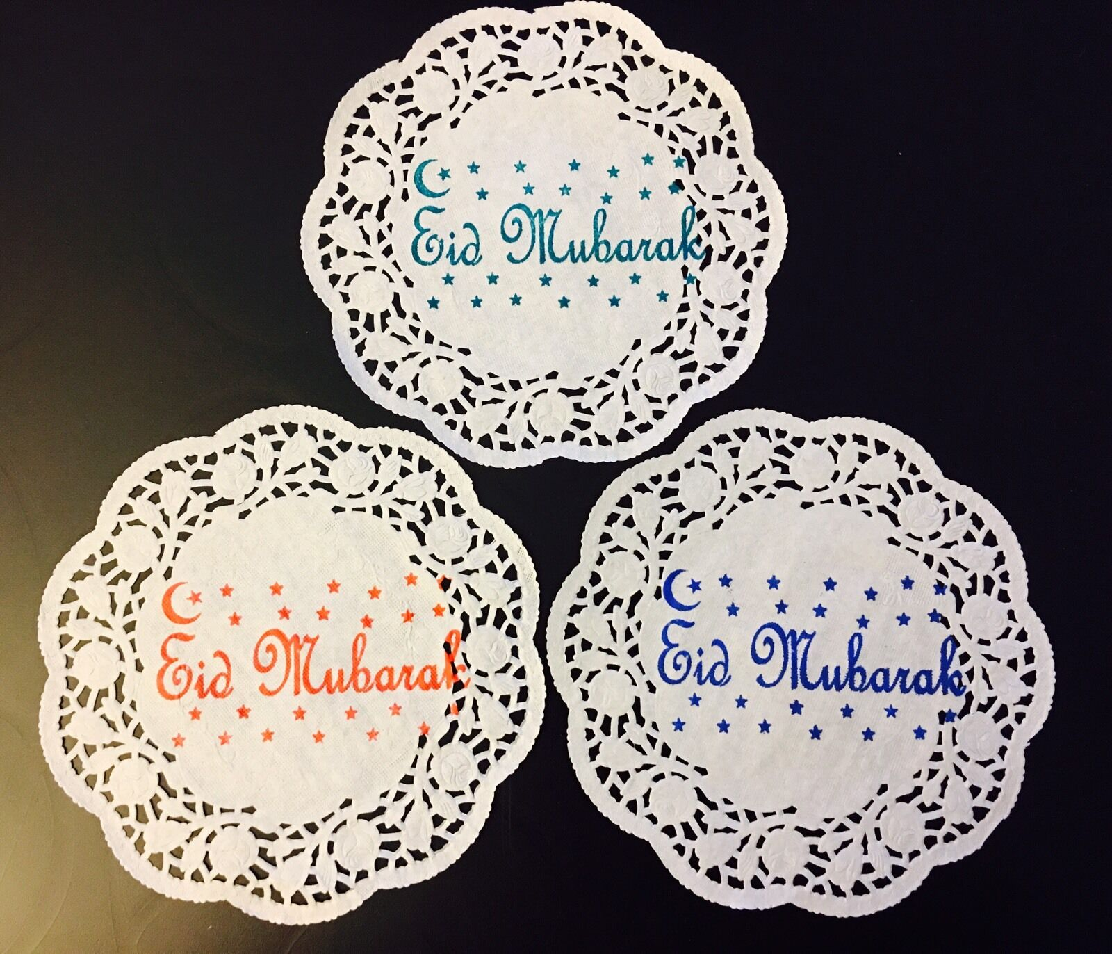 Eid Table Party Decorations 30 X Paper Doilies 17cm Diameter Doyleys 1 Of 6free Shipping