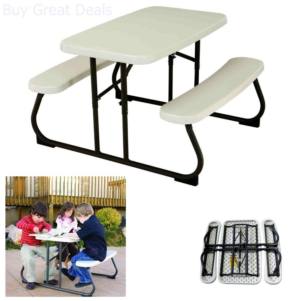 KIDS PICNIC TABLE PlayGround Supplies Park Childrens Seating Bench - Playground picnic table