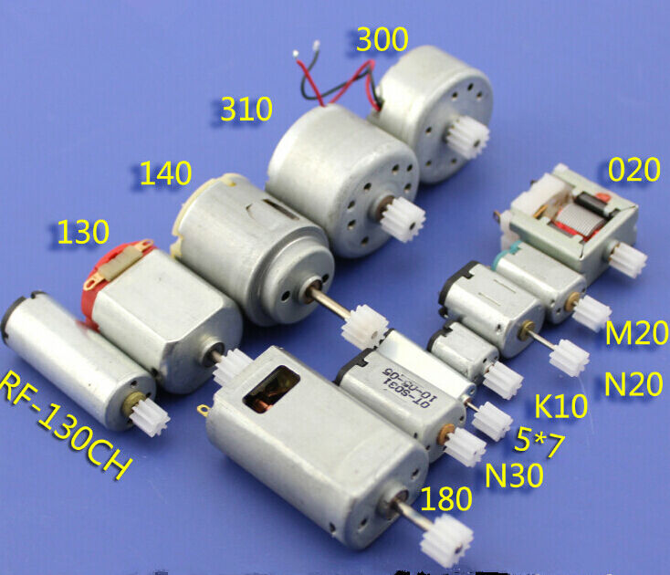 12pcs 3 3 7 6v mini 130 micro dc motor gear round small for Small geared electric motors