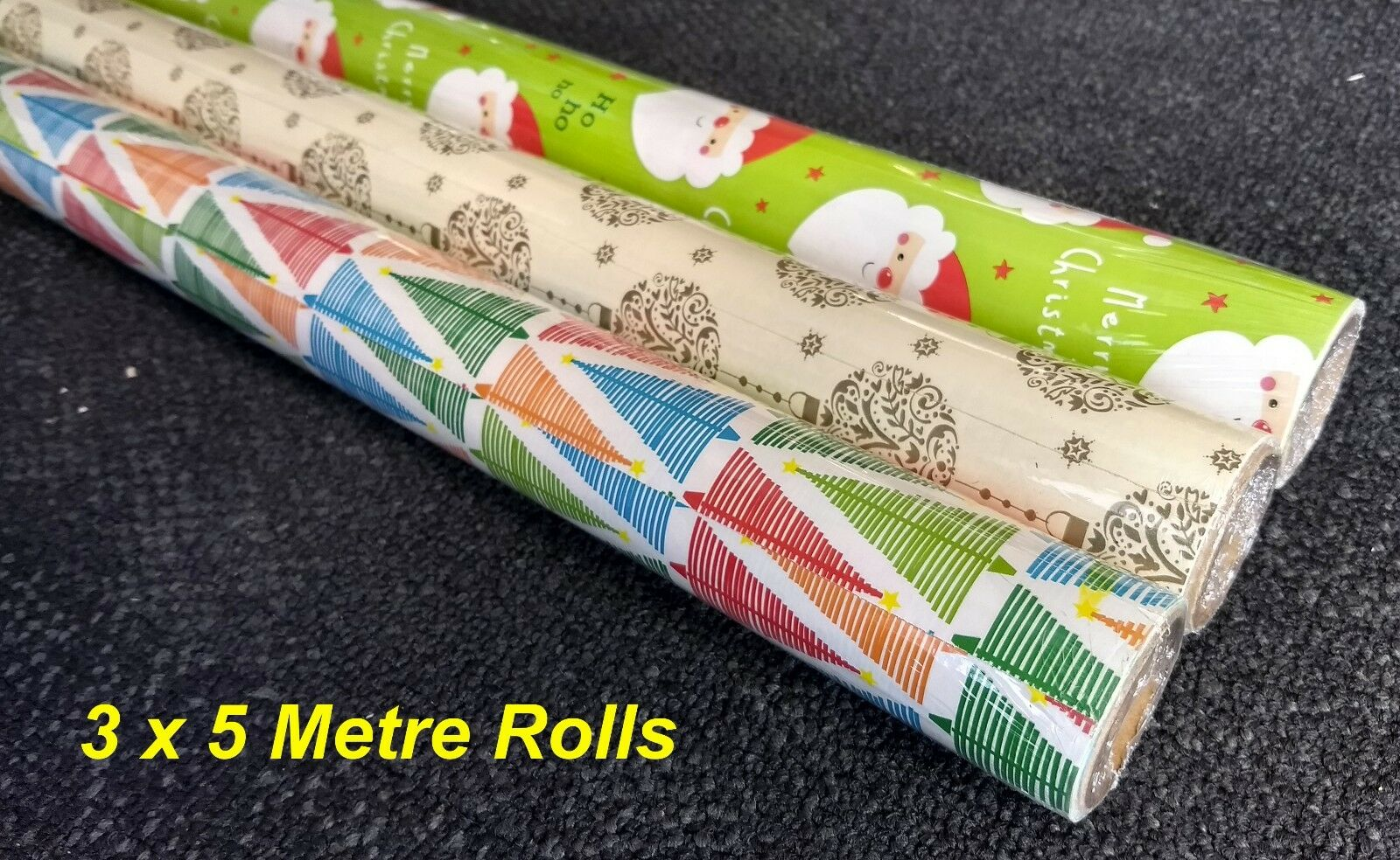 Hallmark Silver Wrapping Paper Rolls 2-96 Metres 70cm Wide-Royal Mail Tracked