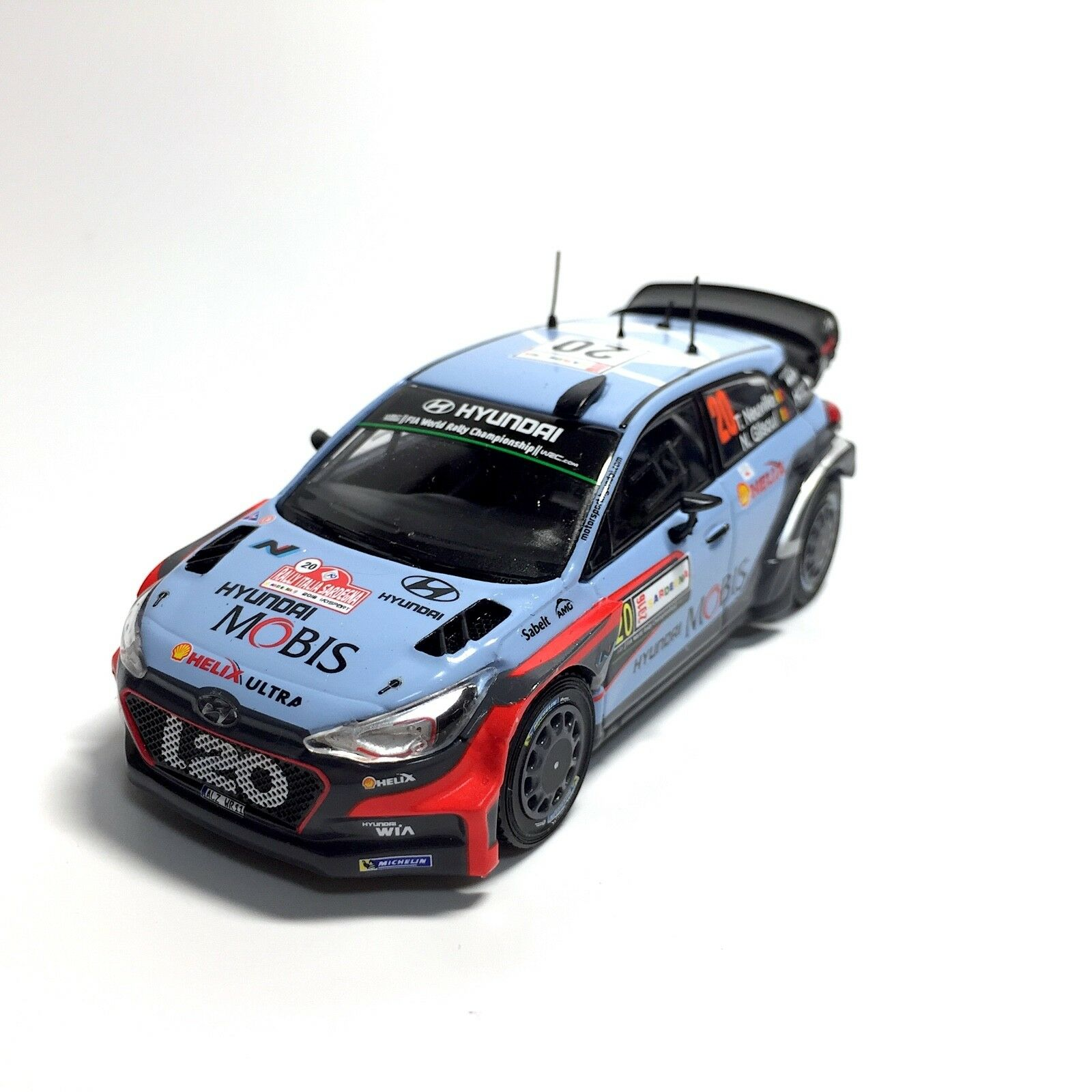 hyundai i20 coupe wrc 1 43 rally winner italy 2016 thierry neuville picclick ca. Black Bedroom Furniture Sets. Home Design Ideas
