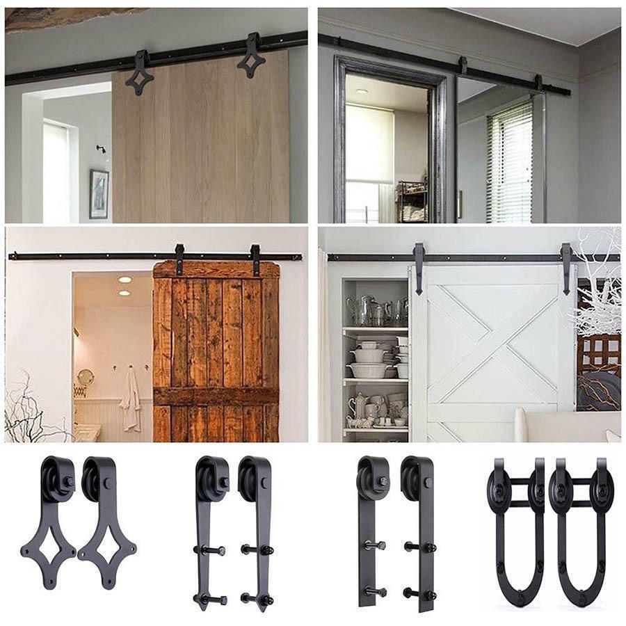 Top Selling 6.6FT Sliding Door Hardware Antique Barn Door Rollers Wood  Track Kit 1 of 6FREE Shipping See More - TOP SELLING 6.6FT Sliding Door Hardware Antique Barn Door Rollers