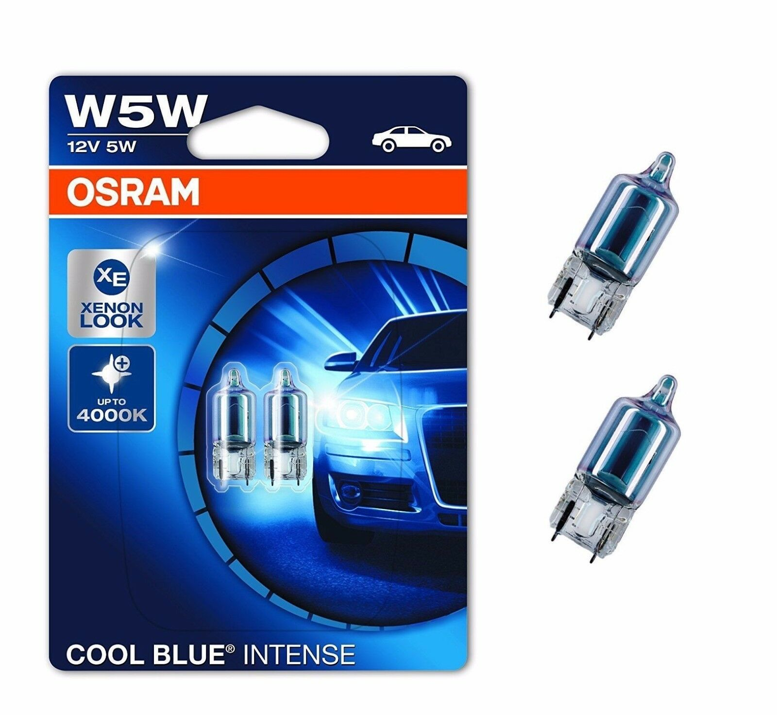 osram w5w cool blue standlicht oder kennzeichenbeleuchtung. Black Bedroom Furniture Sets. Home Design Ideas