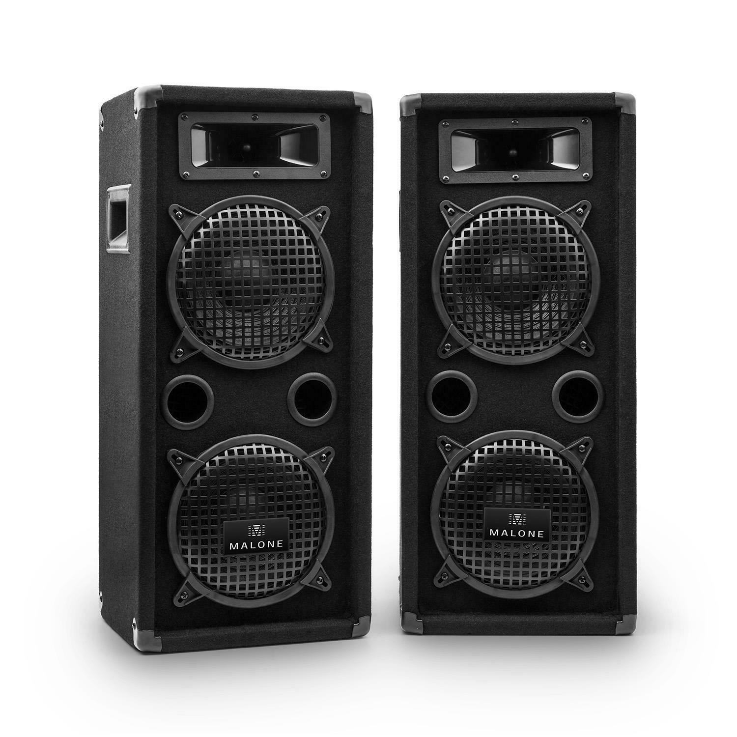dj pa boxen passiv lautsprecher set 3 wege bassbox speaker. Black Bedroom Furniture Sets. Home Design Ideas