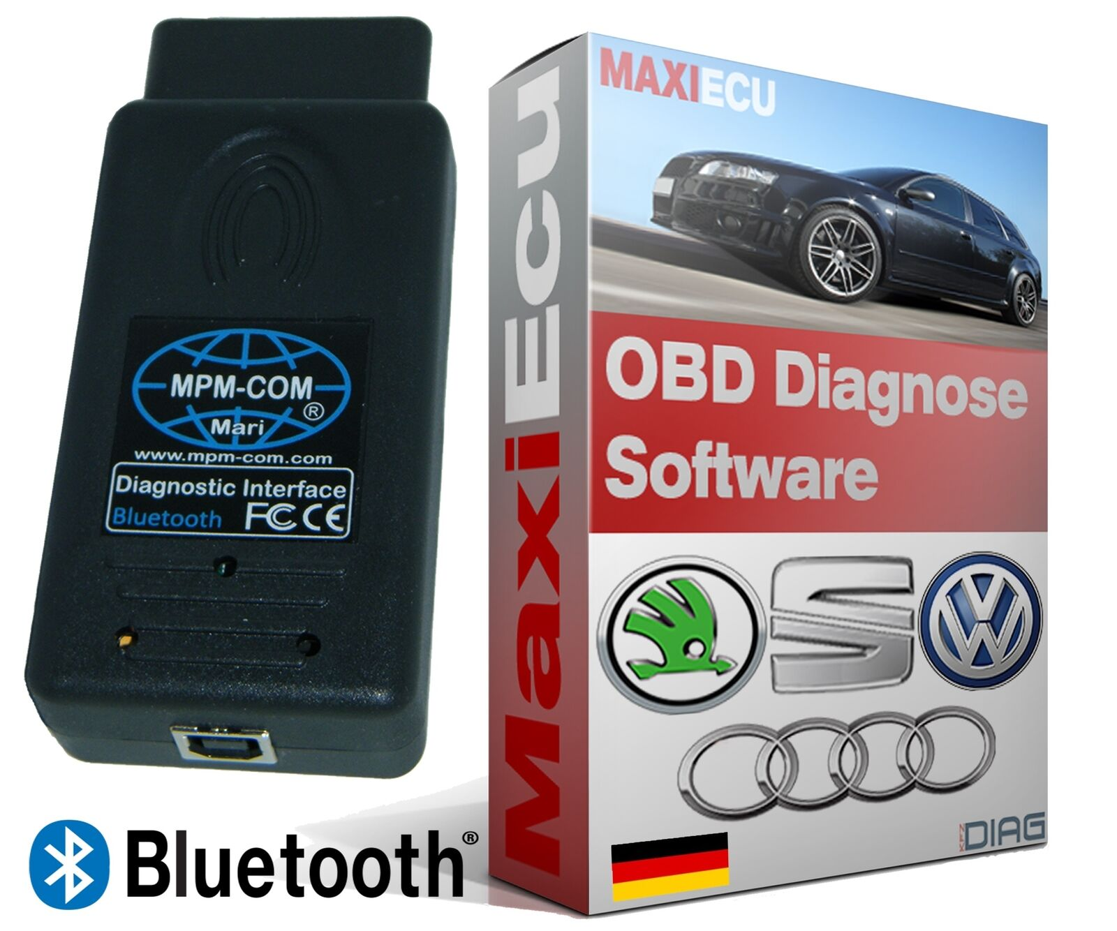 profi kfz obd diagnoseger t mpm com mit bluetooth f r fast. Black Bedroom Furniture Sets. Home Design Ideas
