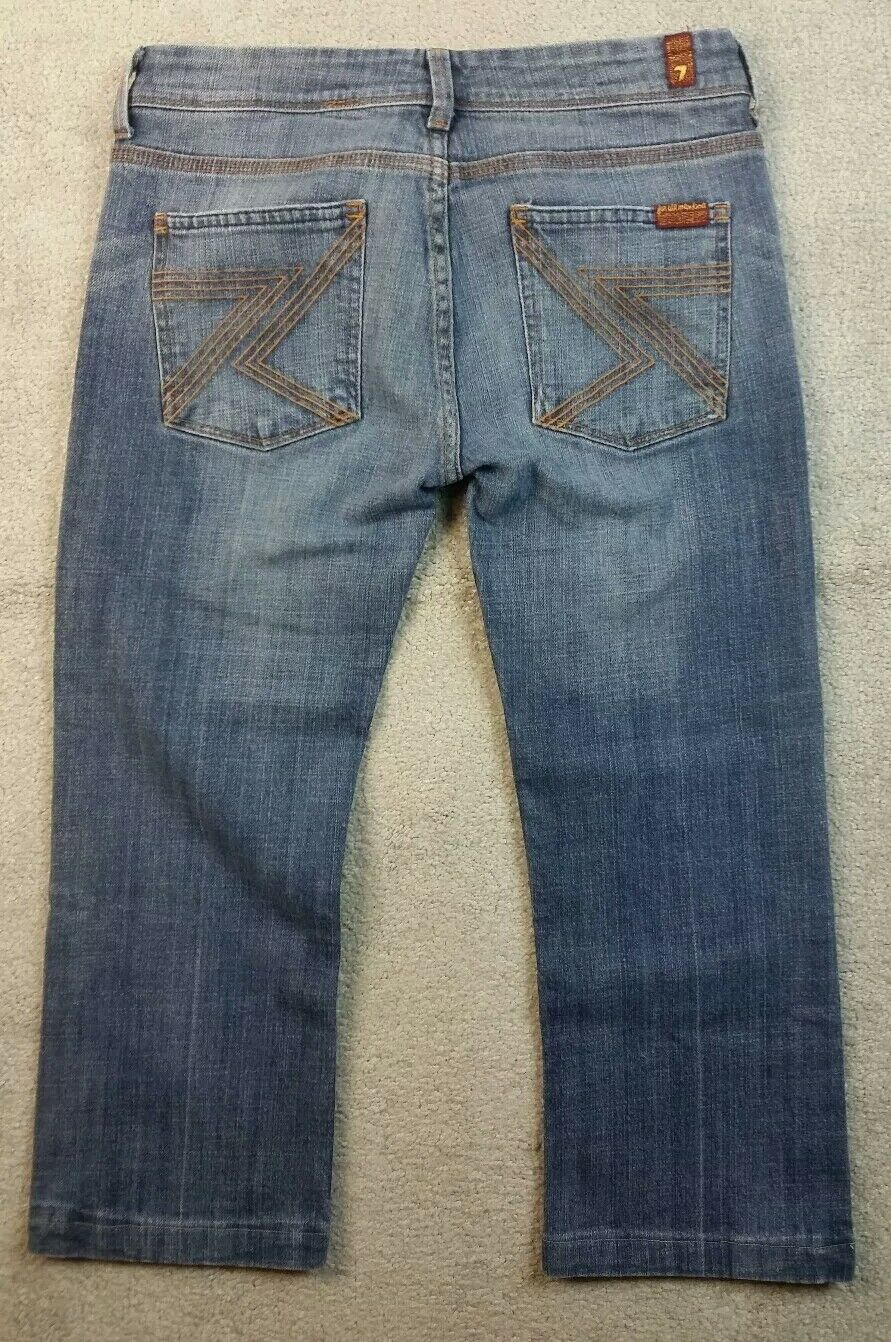 b1e468718f1 7 For All Mankind Women Size 28 Flynt Jeans Capri Cropped (0P) 1 of 12Only  1 available ...