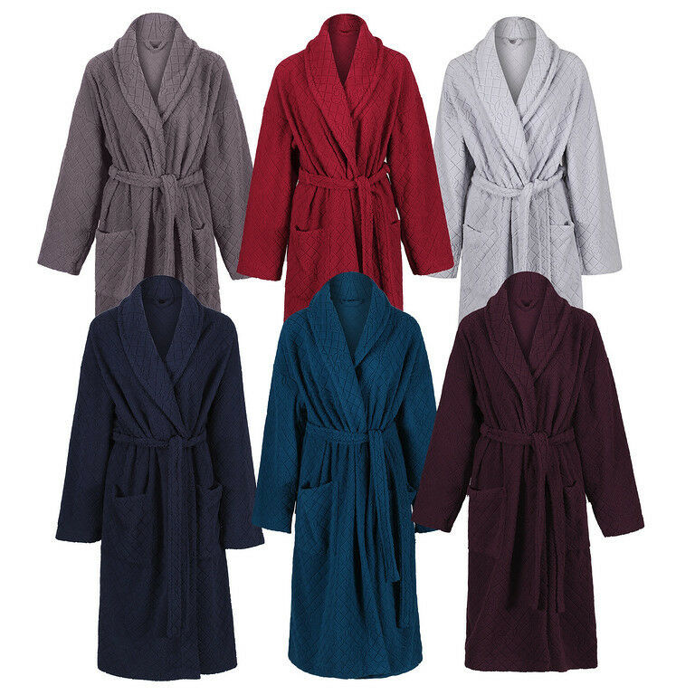MARKS & SPENCER Womens Jacquard Embossed Dressing Gown New M&S Soft ...
