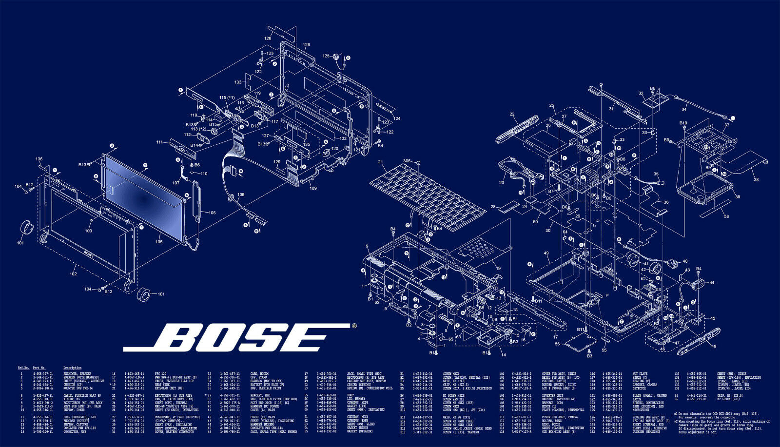 Comprehensive Bose Service User Manuals And Schematics Eur 781 901 Iv Speaker Wiring Diagram 1 Di 1spedizione Gratuita