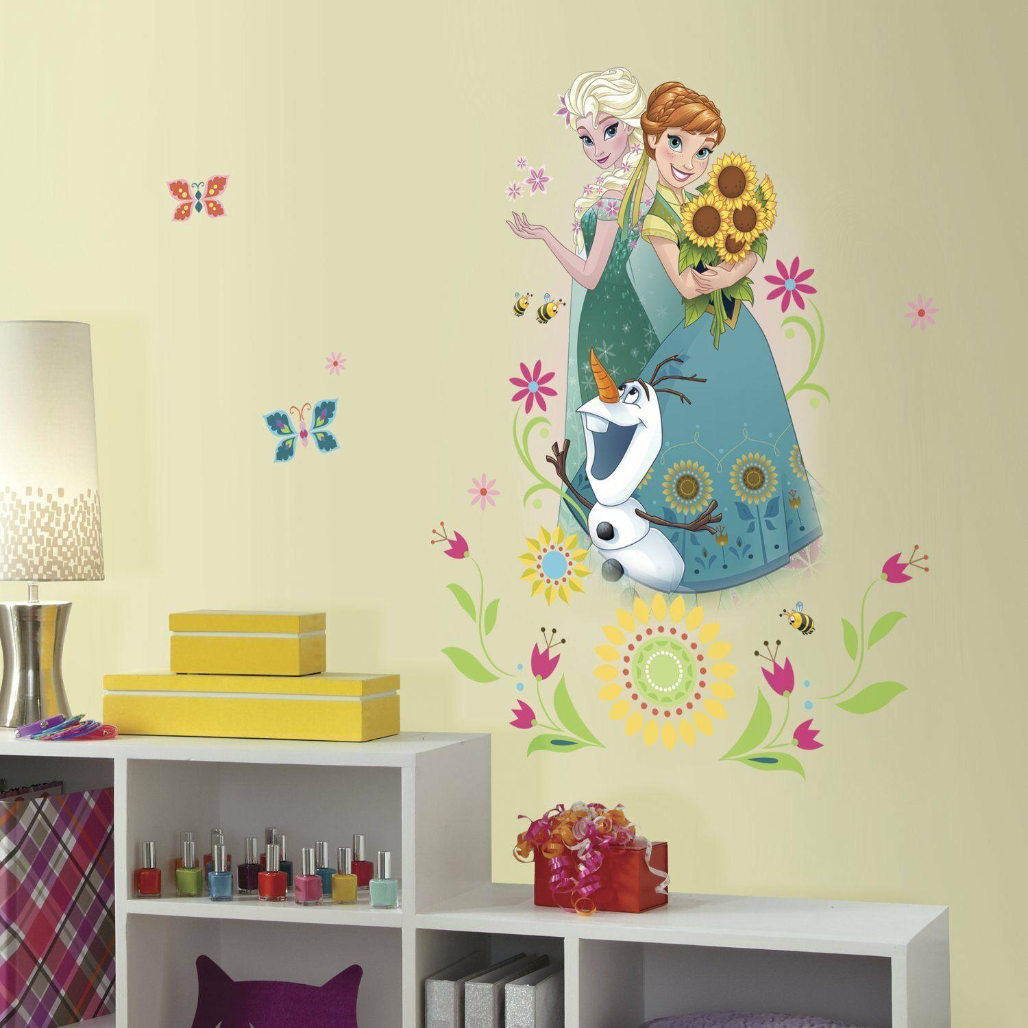 DISNEY FROZEN FEVER GiANt Wall Decals ANNA ELSA OLAF Room Decor ...