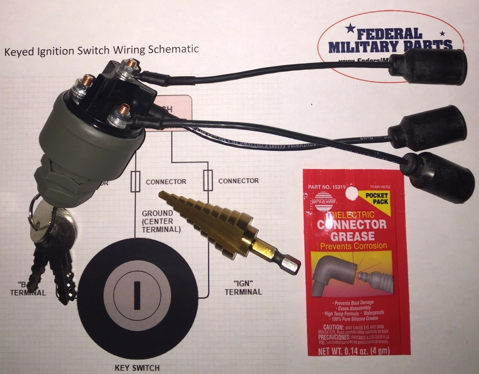 Install Kit Grn Original Humvee Tm Keyed Ignition Switch M998 Hmmwv Wiring Schematic 1 Of 10free Shipping
