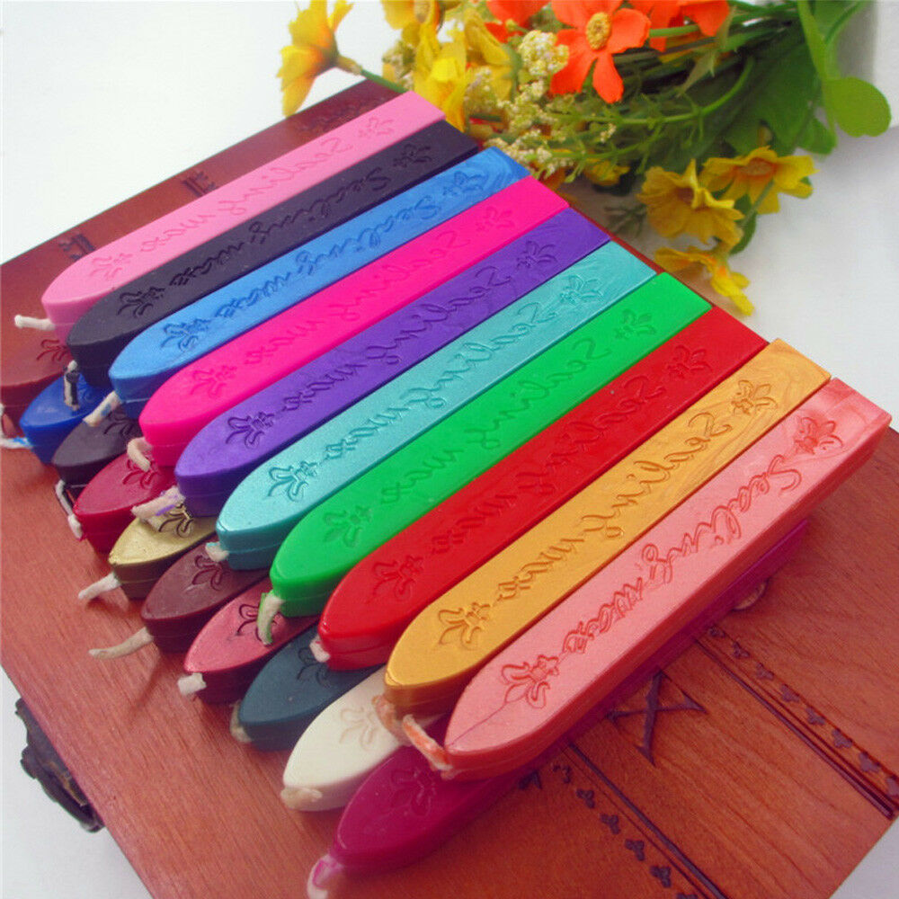 5PCS SEALING WAX Melting Stick Party Invitation Card Letters ...