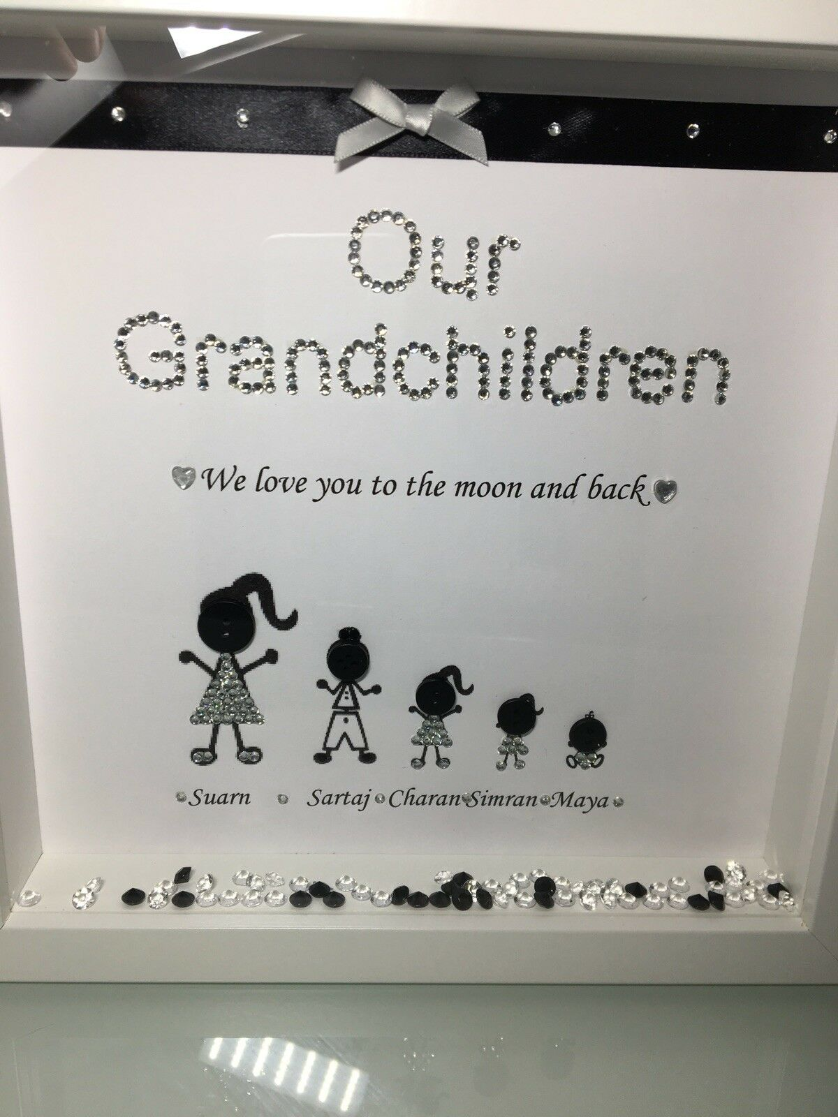 PERSONALISED OUR GRANDCHILDREN Box Frame Perfect Christmas gift nan ...