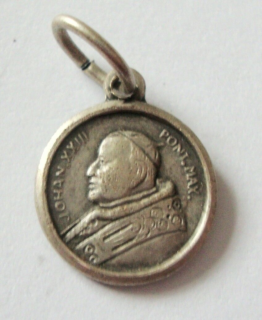 silver marked sterling pendant catholic property l solid medallion room