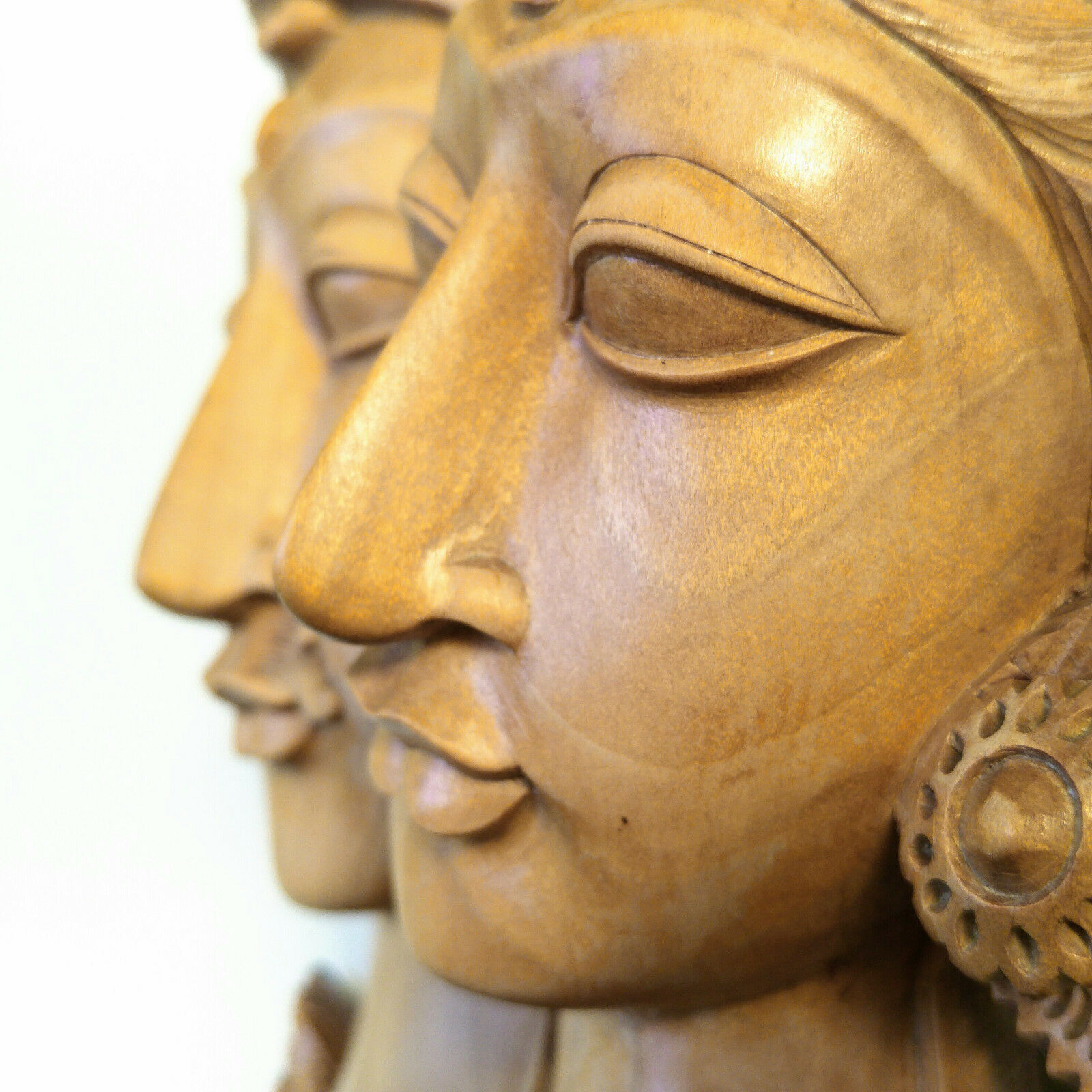 BALI STATUE CARVED Wood Vintage Sculpture Balinese Carving Indonesia ...