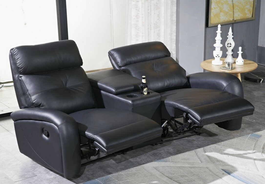 ledersofa kinosofa relaxsofa fernsehsofa heimkino schwarz. Black Bedroom Furniture Sets. Home Design Ideas