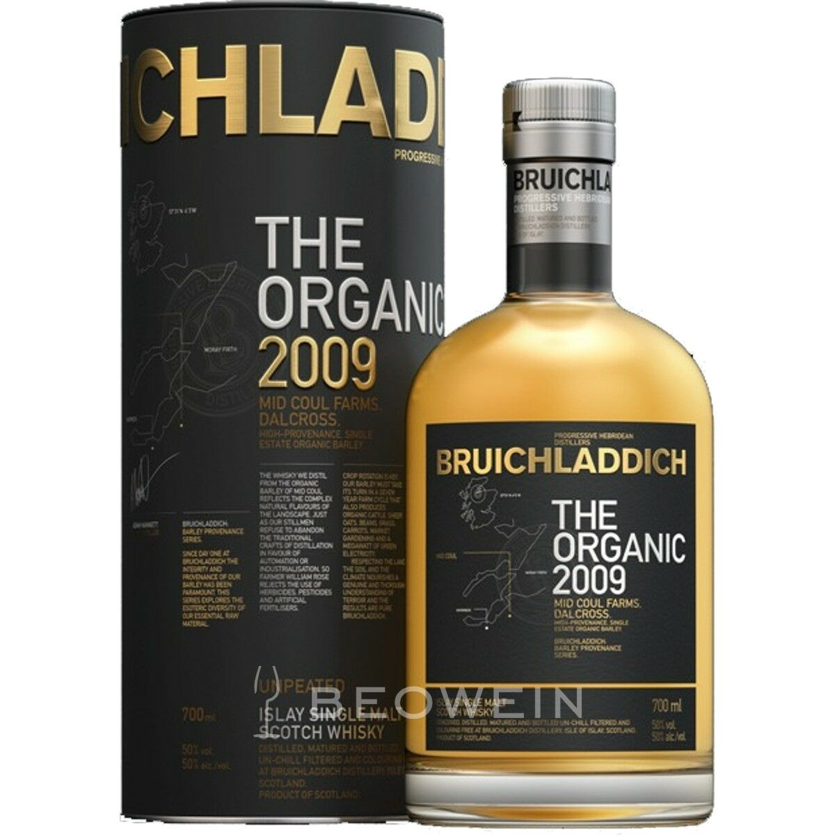 BRUICHLADDICH The Organic 2009 0,7 l Islay Single Malt ...