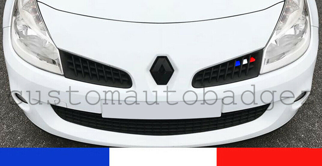 RENAULT CLIO MK3 Sport 197 French Flag Grille Stickers ...