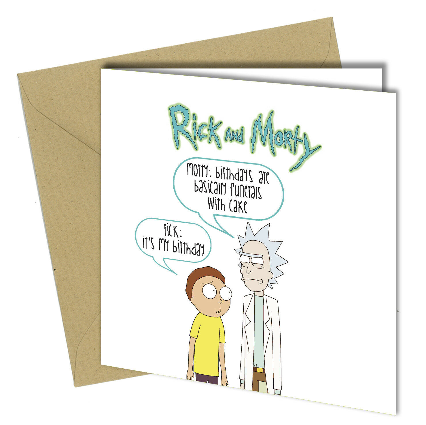509 Birthday Greeting Card Funny Rick And Morty Lets Get Schwifty