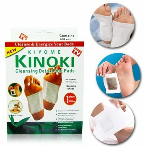 Detox Foot Pads By Kinoki Kiyome For Cleansing Feet 10 Count Box As