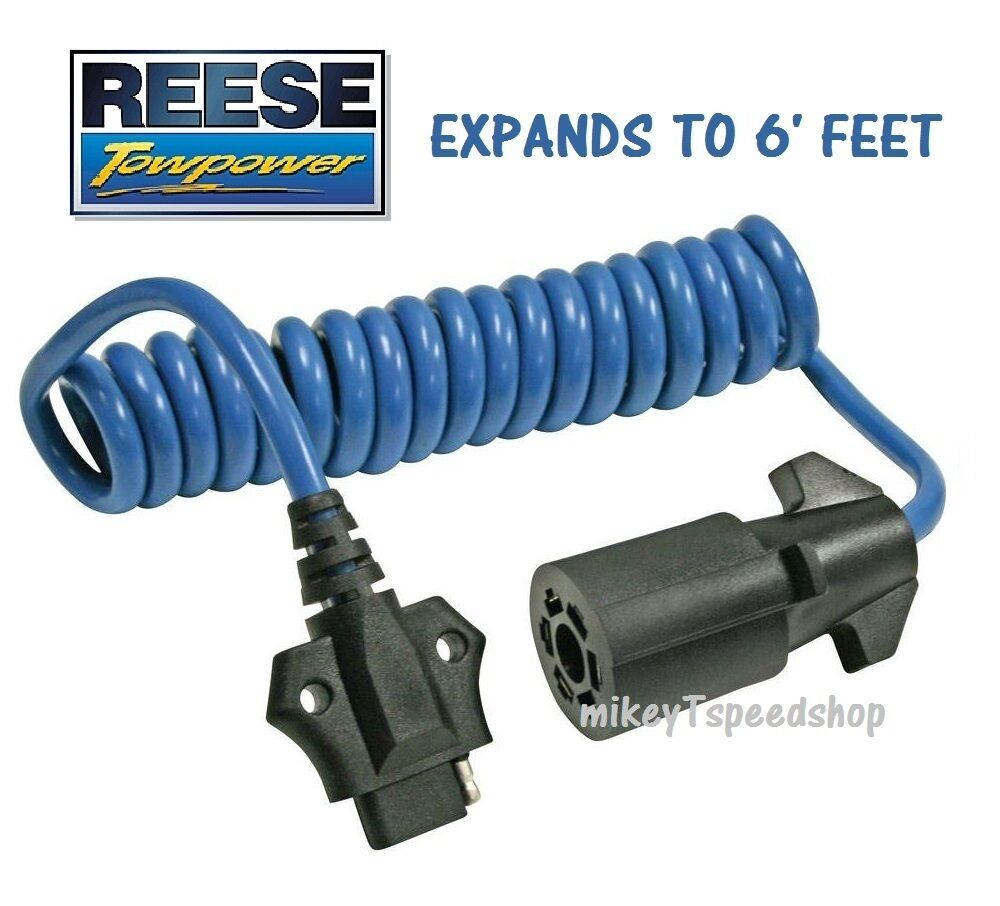 Reese 7 Way To 4 Flat Adapter Trailer Wiring Harness Wire 1 Of See More