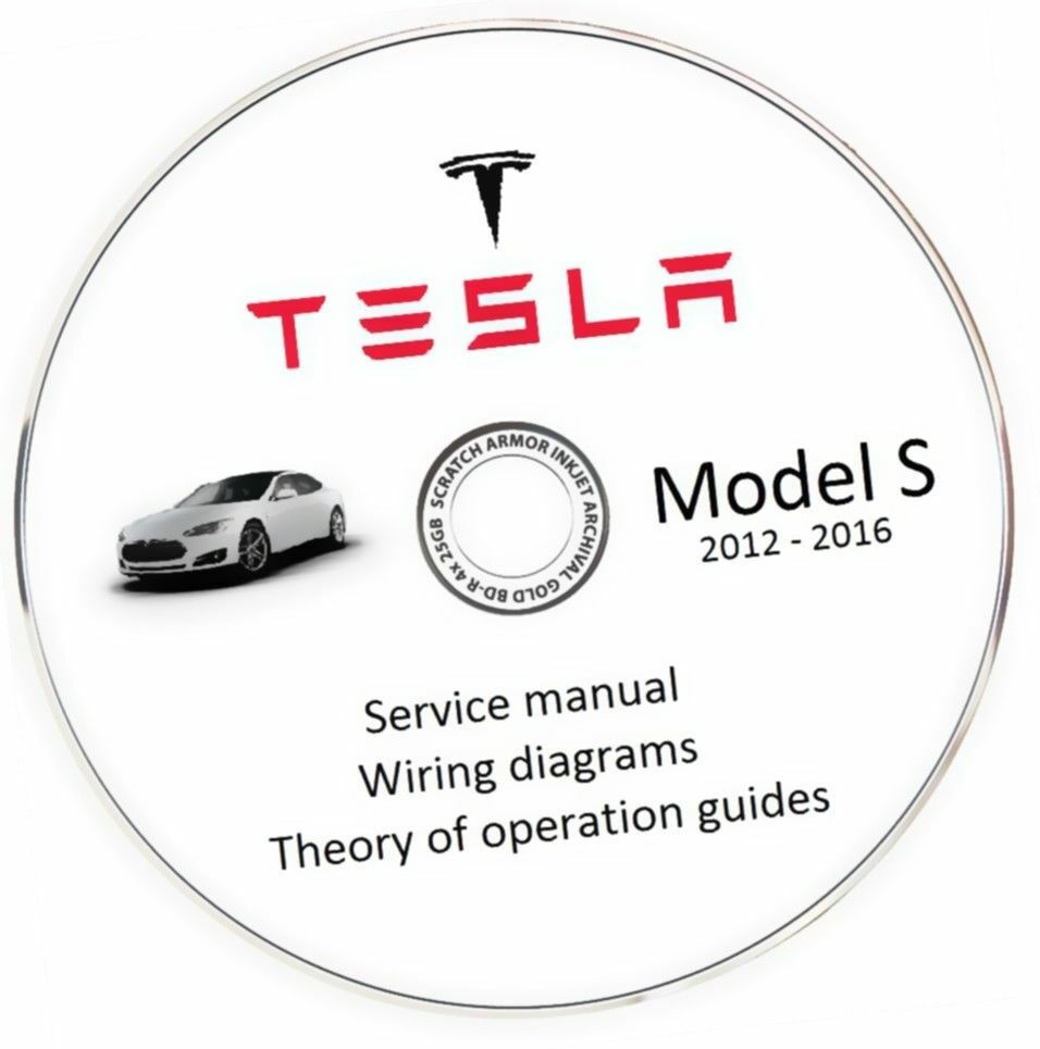 Tesla Model S 2012 2016 Service Manual Wiring Diagram 1250 1984 Toyota Celica Supra 1 Of 5free Shipping See More