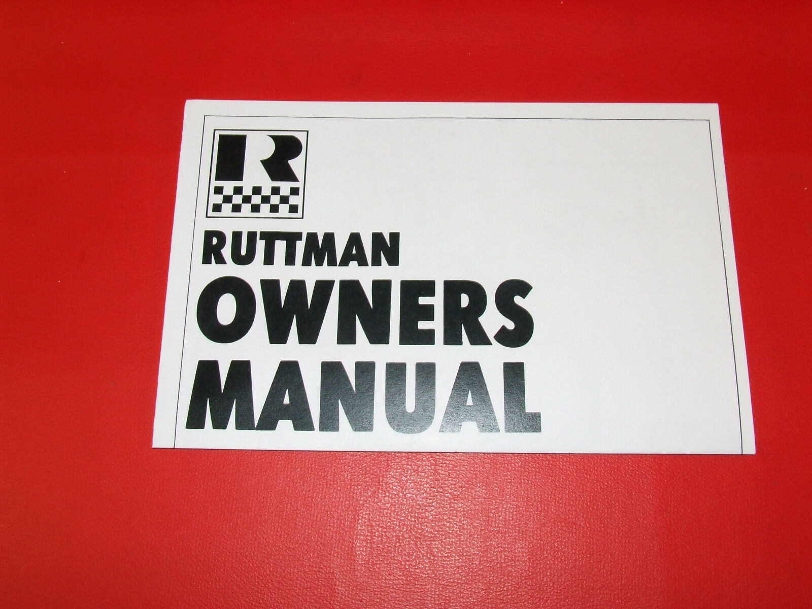 WOW! VINTAGE 1969 RUTTMAN MINIBIKE OWNERS MANUAL (4 PAGES) - $15.00 ...