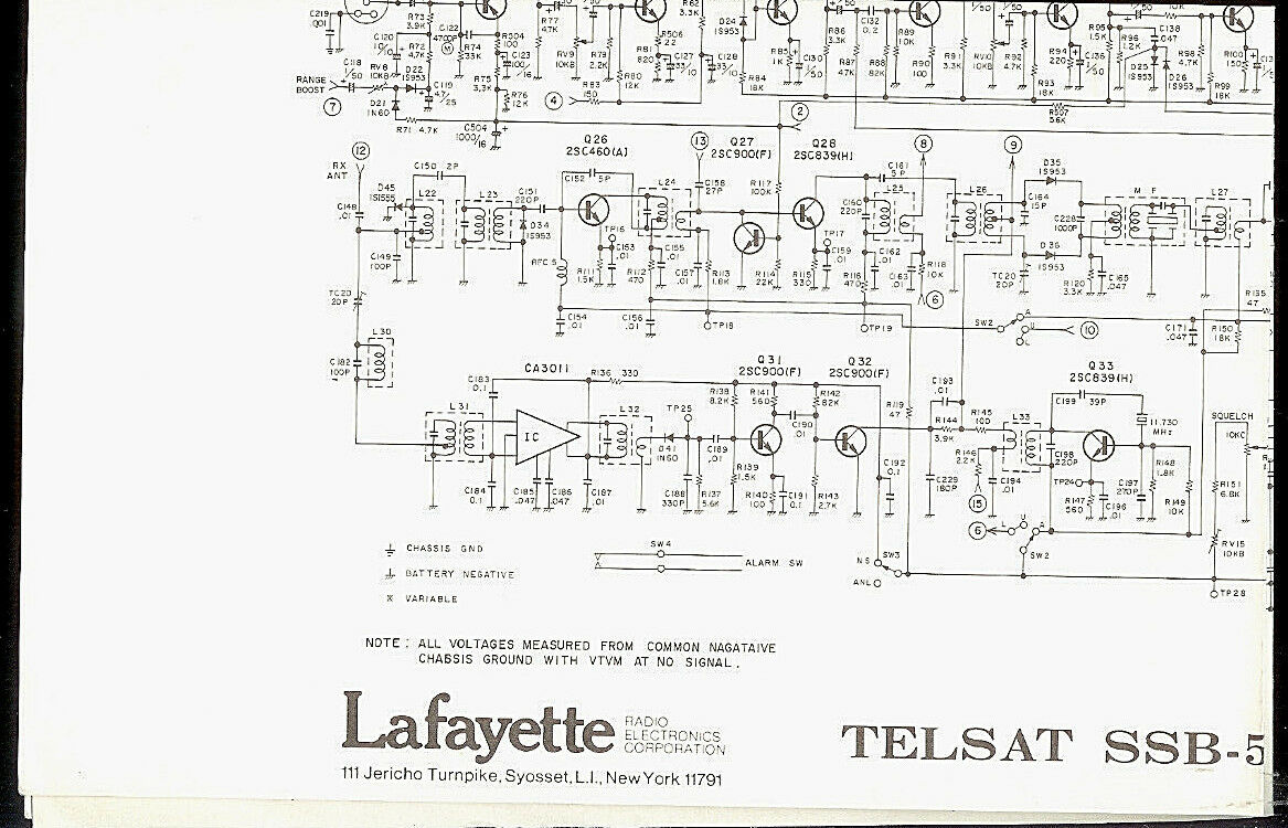 Cb Radio Schematic Trusted Wiring Diagrams F M Circuit Diagram Lafayette Telsat Ssb 50a Original Factory Fm
