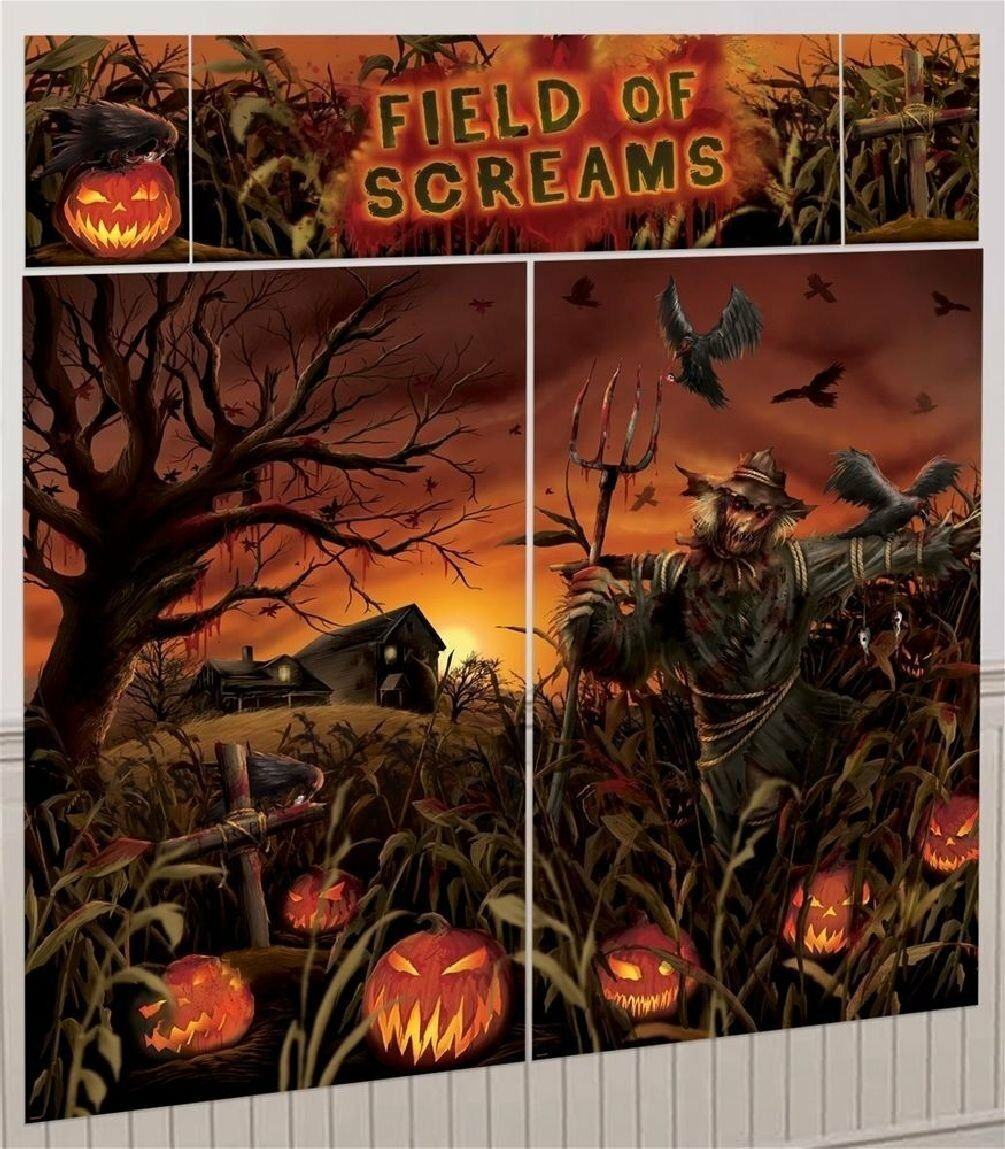 field of screams scene setter photo backdrop party wall decoration halloween 1 of 1free shipping see more