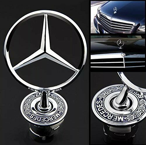 Mercedes benz front star bonnet hood badge emblem logo for Mercedes benz star logo