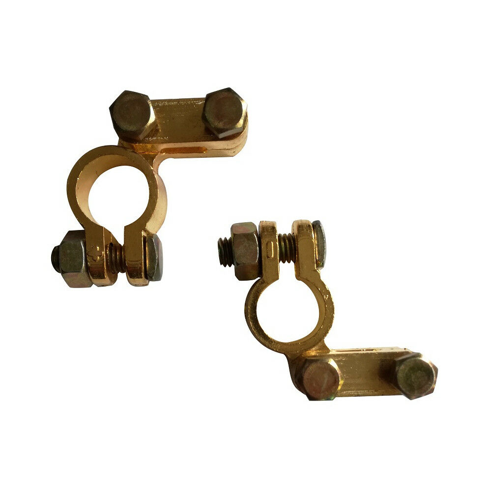 Car Battery Terminals Connectors 12v 24v Clamps Brass Wiring 1 Of 4free Shipping