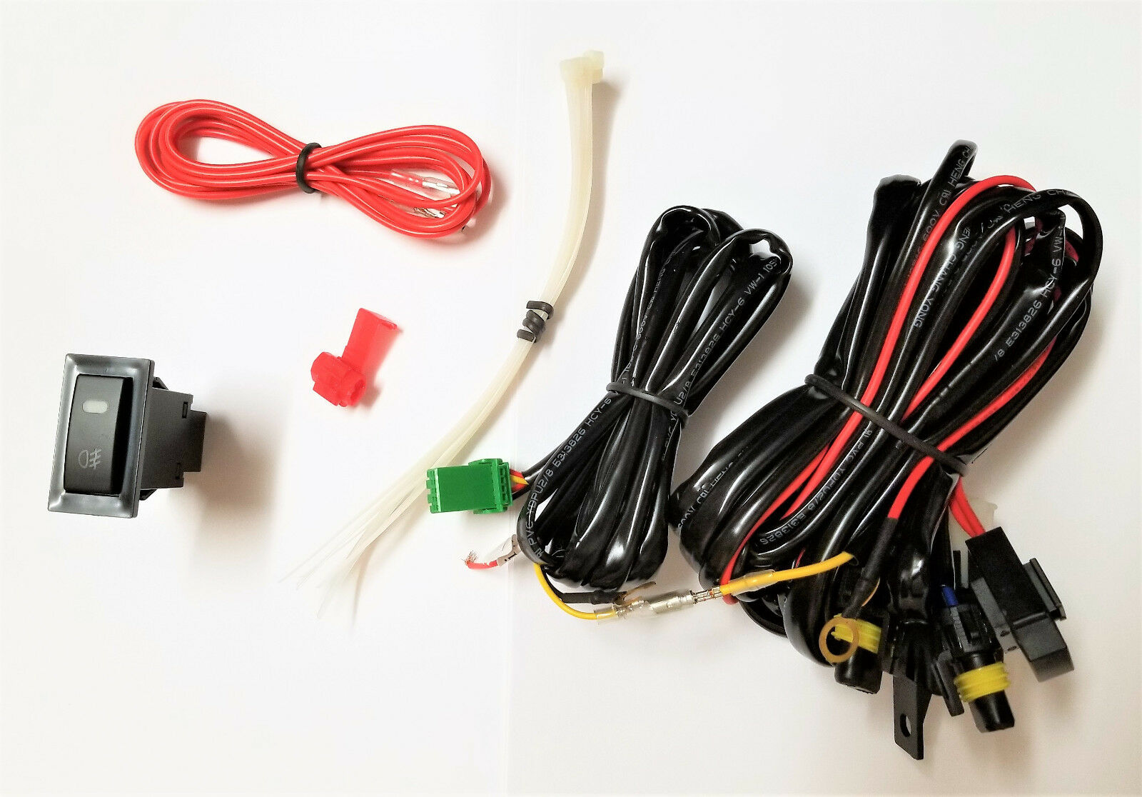 Fog Light Lamp universal Wiring harness Kit Fuse Switch Relay for 9006 HB4  bulbs 1 of 3 See More