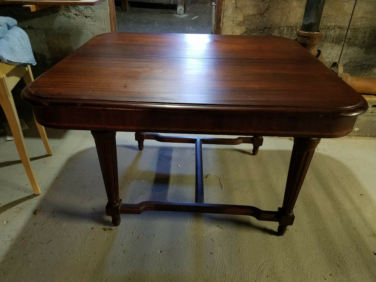 Antique Mahogany Dining Table 1 Of 9 ...