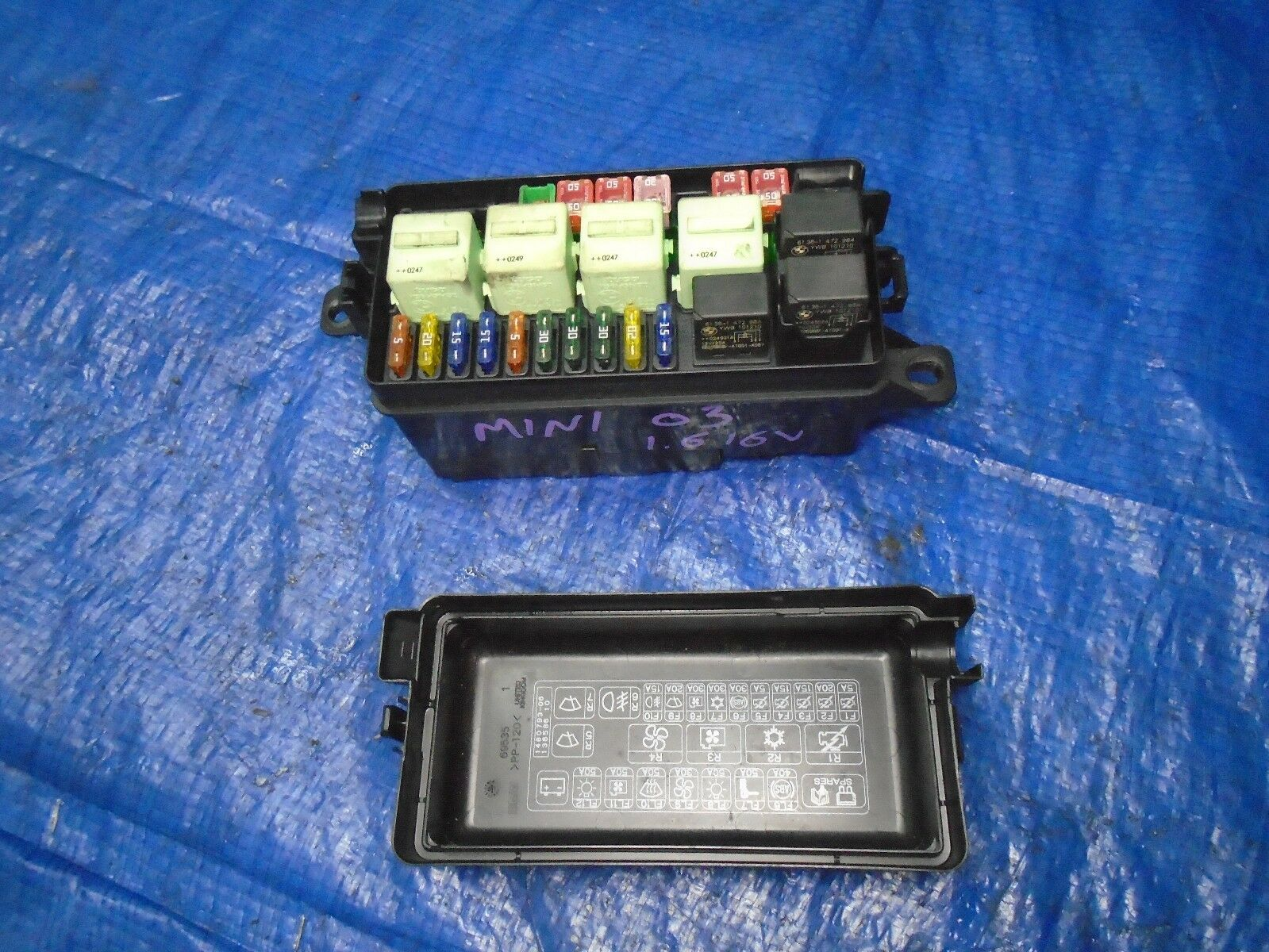 2005 Mini Cooper Fuse Box Wiring Library Bmw R50 1 6 16v Under Bonnet Engine Bay 2001 To