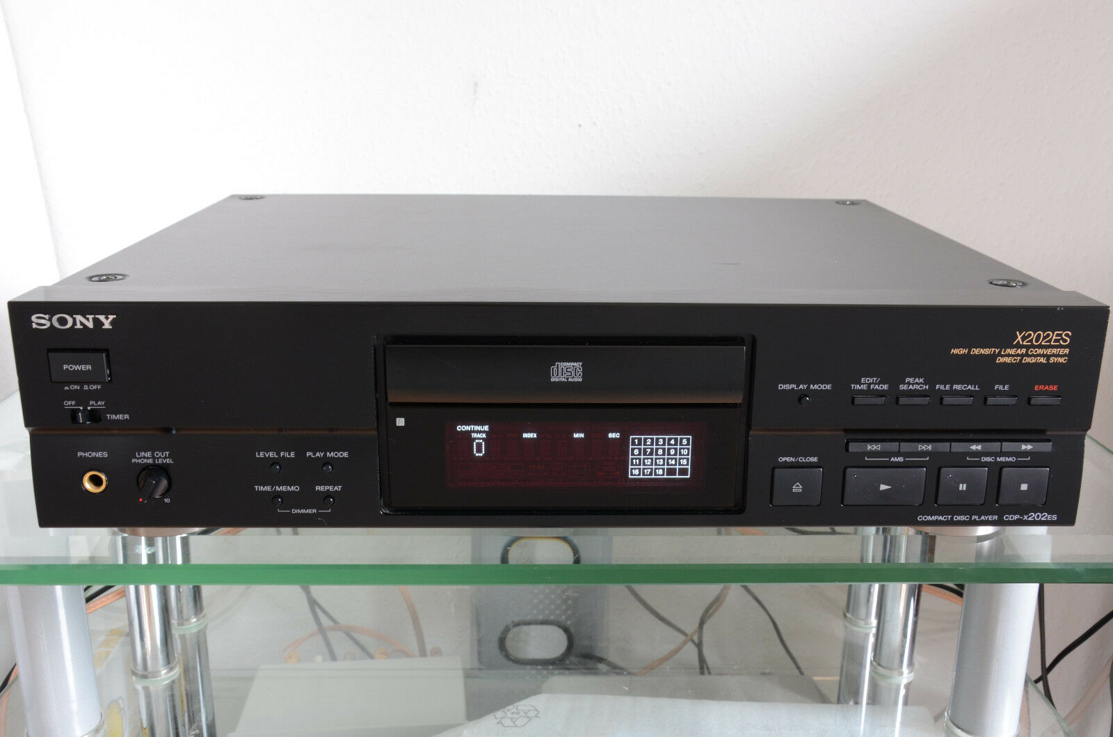 sony cdp x202es cd player mit fernbedienung eur 159 90. Black Bedroom Furniture Sets. Home Design Ideas
