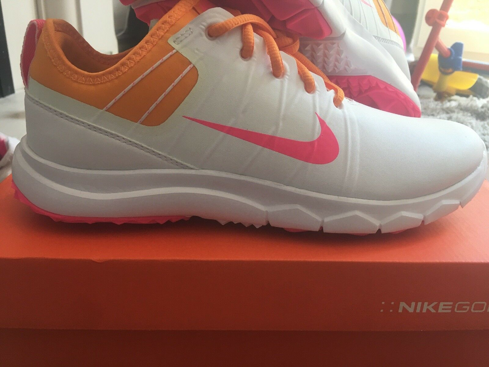 official photos f1819 fea40 Ladies NIKE FI IMPACT 2 Golf Shoes UK 4.5 ( 4 1 2) Orange 1 of 4 See More