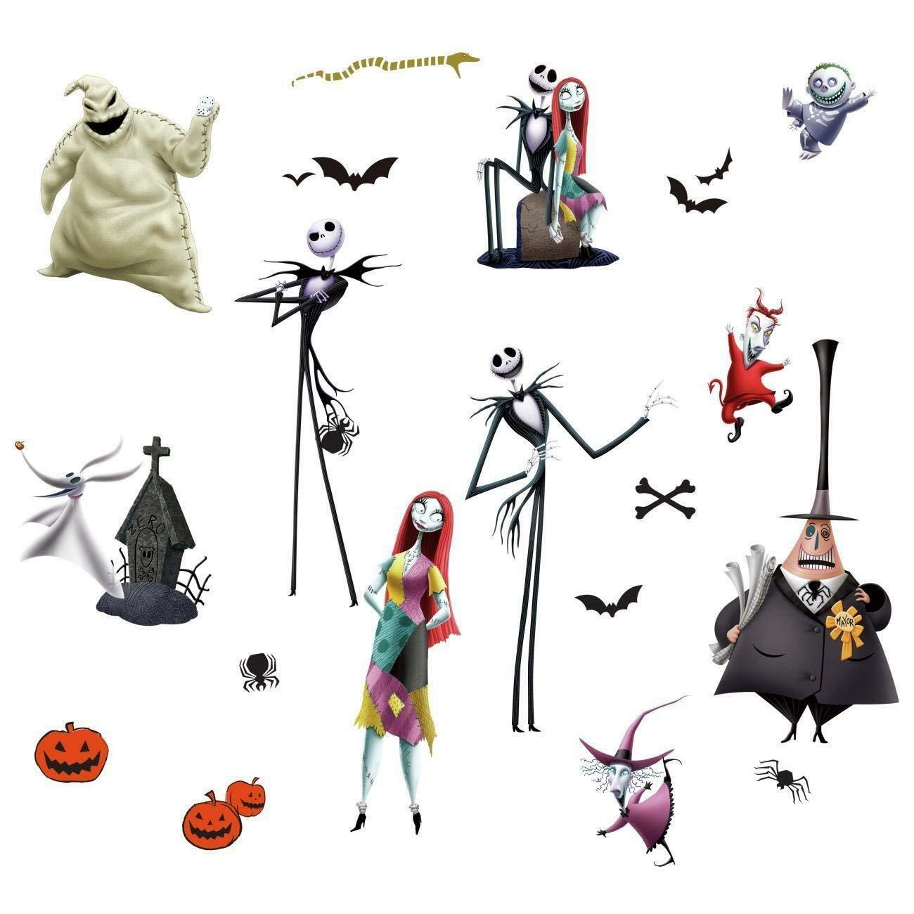 THE NIGHTMARE BEFORE CHRISTMAS WaLL DeCaLS Jack Sally Room Decor ...
